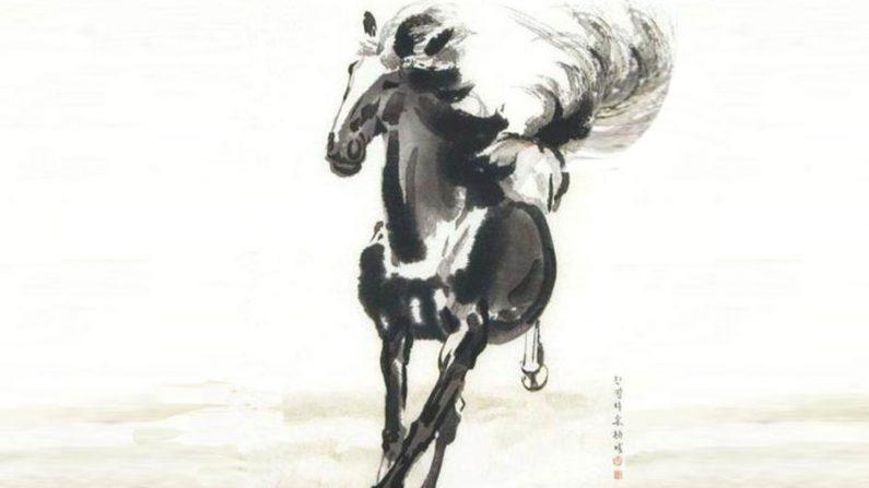 """Provérbio: """"Procurando um excelente cavalo de acordo com desenhos"""""""
