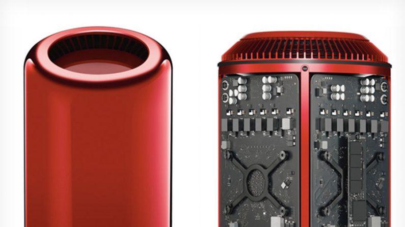 Peça única do Mac Book Pro vermelho entra em leilão para caridade