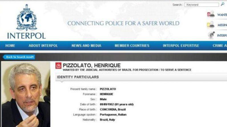Pizzolato é procurado pela Interpol