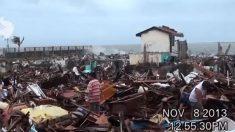 Caçador de tempestades filma chegada do Super Tufão Yolanda nas Filipinas