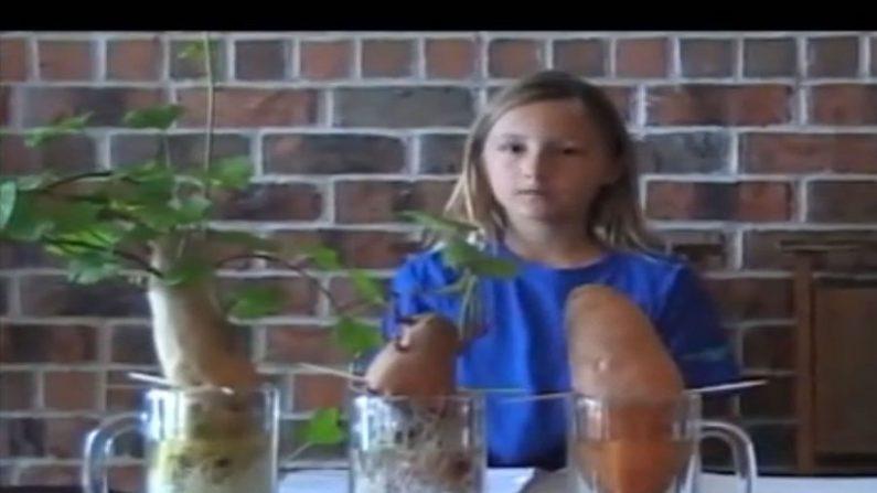 Jovem de nove anos mostra danos dos agrotóxicos em nossa alimentação