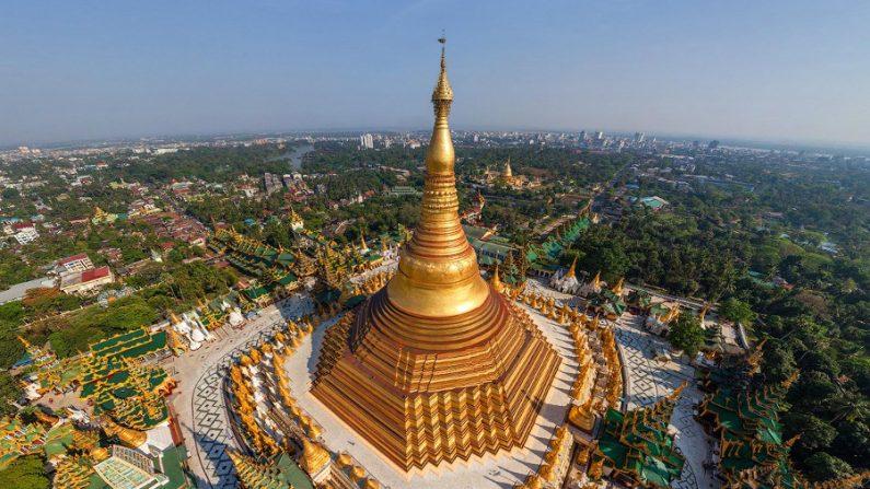 Pagode Shwedagon, lugar que nasceu de um fio de cabelo do Buda