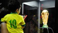 Taça da Copa chega ao Brasil