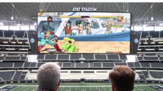 Confira como seria jogar games numa das maiores telas de TV do mundo