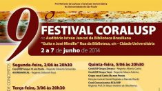 Festival CoralUSP se apresenta em São Paulo na próxima semana