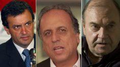 Aécio fortalece aliança com Luiz 'Pezão' e Cesar Maia no Rio