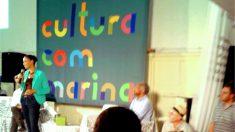 Ao lado de Gil, Marina defende investimento em cultura