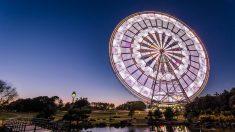 Veja rodas-gigantes fotografadas de maneira única
