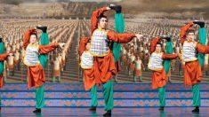 Trabalhando em união para apresentar uma dança semi-divina