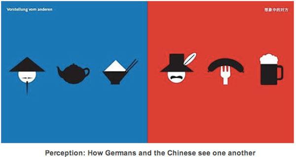 Arte vetorial mostra diferenças culturais entre ocidente e oriente