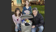 Família britânica produz somente uma lata de lixo por ano