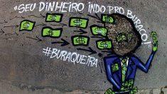 Grafite satiriza más condições das ruas de São Paulo