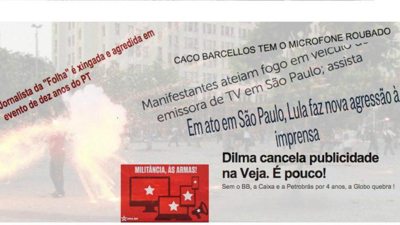 PT convoca militância contra imprensa brasileira