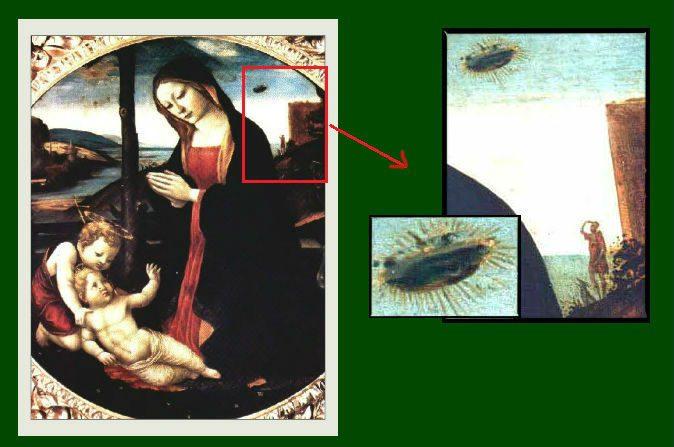 Objetos similares a OVNIs compõem cenários renascentistas