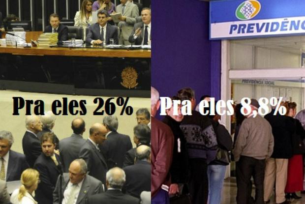 Parlamentares concedem 26% de reajuste para os próprios salários. Salário-Mínimo só deve ter 8,8% de reajuste