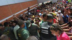 Filas imensas na Venezuela, desde a madrugada, para a compra de qualquer coisa