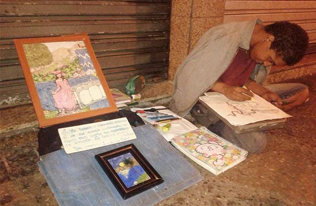 A história de Luiz Claudio, um talentoso morador de rua