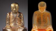 Raio-X revela múmia dentro de estátua de Buda