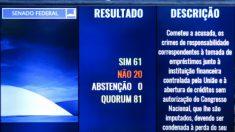 Veja quem votou 'sim' para saída de Dilma, mas 'não' para inabilitação