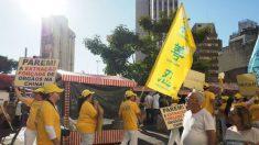 Praticantes do Falun Gong no Brasil marcham contra perseguição na China