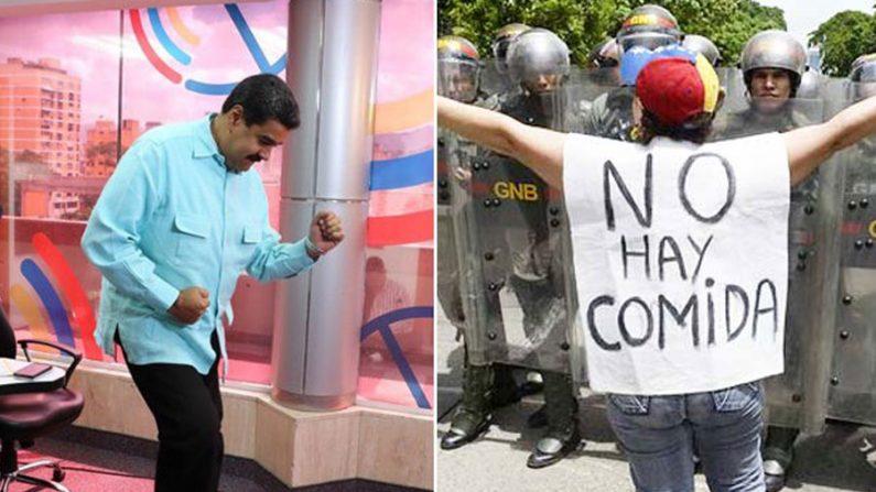 Venezuelanos estão famintos mas elite socialista festeja