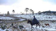 Forte massa de ar polar avança pelo Brasil
