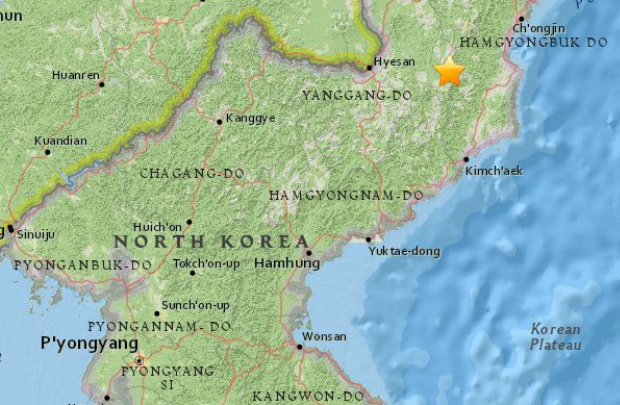 Terremoto de magnitude 2.9 atinge Coreia do Norte