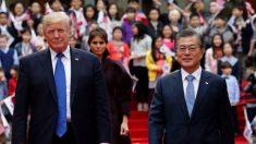 Na Coreia do Sul, Trump envia mensagem de força e esperança