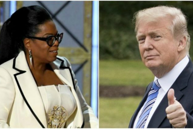 """Trump espera que Oprah se candidate a presidente em 2020, assim poderá """"ser exposta e derrotada"""" (Vídeo)"""