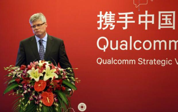 Diretor executivo da Qualcomm, Steve Mollenkopf, participa de uma coletiva de imprensa em Pequim, na China, em 24 de julho de 2014 (ChinaFotoPress/Getty Images)