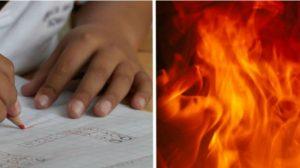 Esta menina arriscou sua vida e salvou sua pequena irmã e seus primos de um incêndio