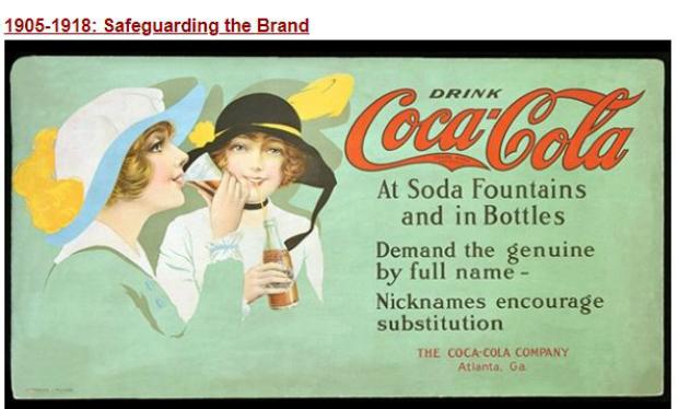 Coca-cola em seus primórdios (Coca Cola Company)