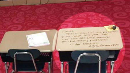Professora encontra uma bela e inusitada maneira de estimular seus alunos a enfrentarem dificuldades
