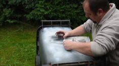 Artista usa spray para pintar lata de lixo. O resultado é impressionante