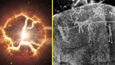 Arte rupestre de 5.000 anos seria representação mais antiga de uma supernova
