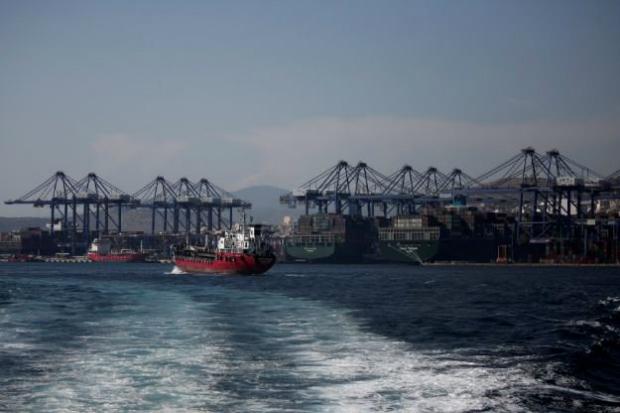 Vista do Terminal de Containers do Pireu, próximo de Atenas, na Grécia, em 20 de setembro de 2017 (Alkis Konstantinidis/Arquivo)