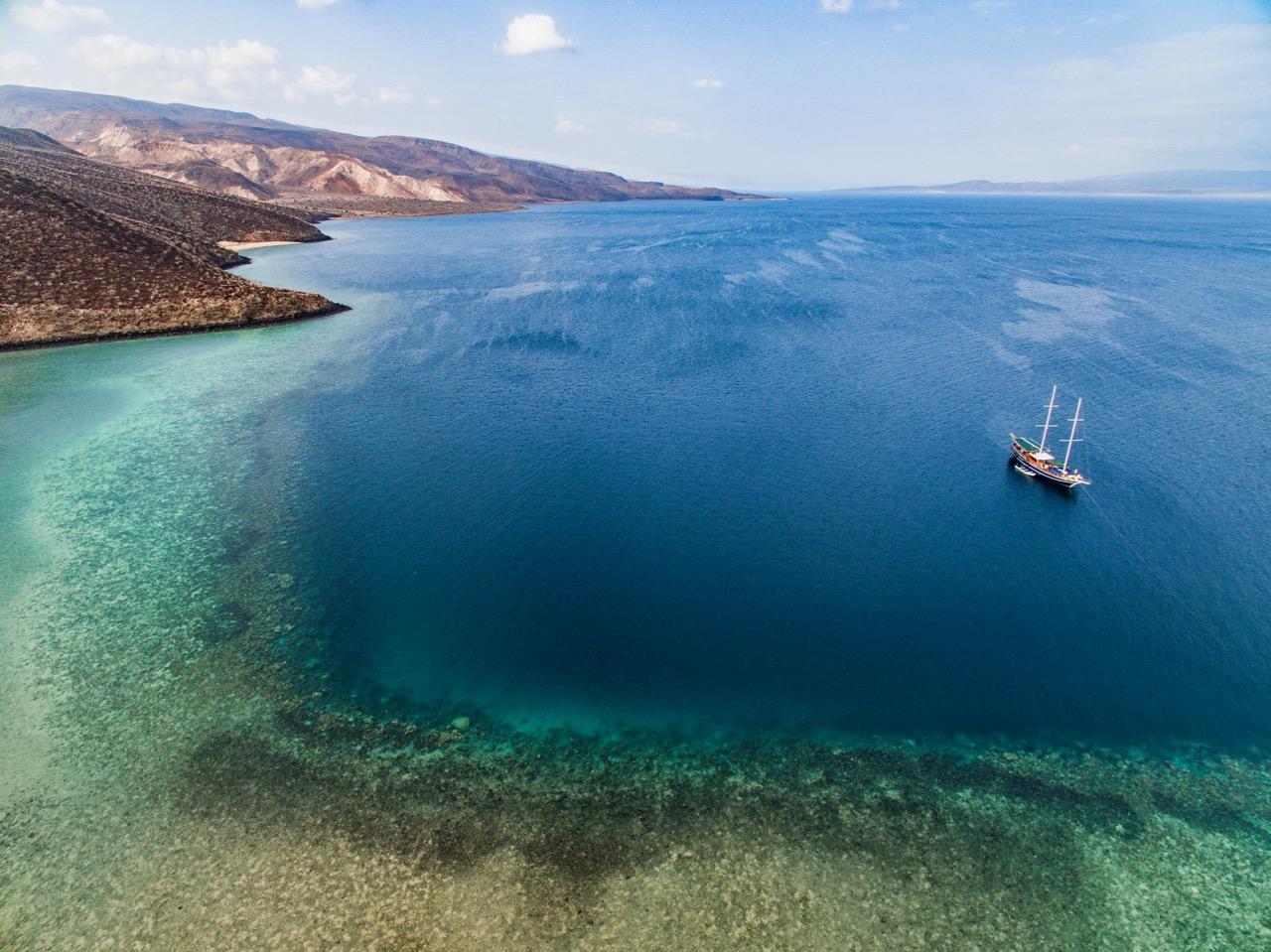As águas de Djibouti, no Chifre da África (Imagem via SWNS)
