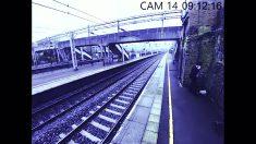 Homem transtornado em estação de trem tenta suicídio, mas mulher se arrisca e o salva no último instante