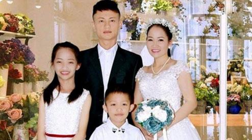 A autora com sua família.