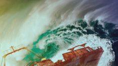Nenhum navio sobrevive nestas águas chinesas e nenhum destroço jamais foi encontrado