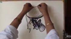 Artista indiano usa técnica criativa em suas pinturas e resultado é belíssimo. Confira!