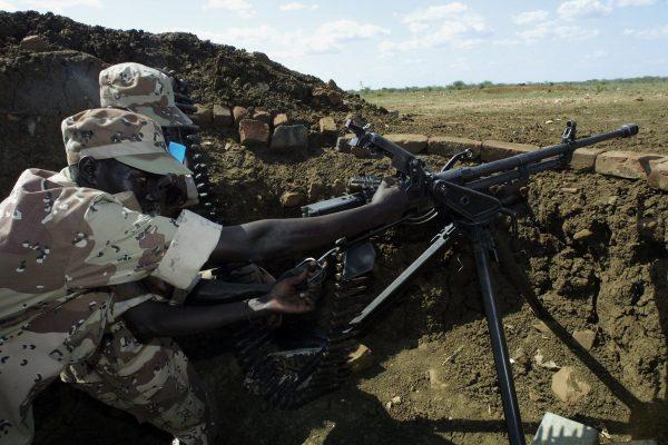 Rebeldes do Exército de Libertação do Povo do Sudão (SPLA). (SIMON MAINA / AFP / Getty Images)