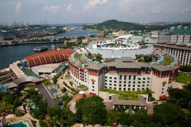 Ilha Sentosa de Singapura, onde terá lugar a cúpula entre Donald Trump e Kim Jong-un (Samira Bouaou/Epoch Times)