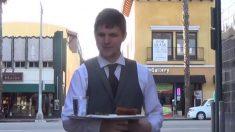 Garçom elegante serve moradores de rua e causa reações fantásticas