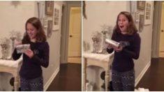 Garota ganha presente dos sonhos no natal – as reações de todos dizem tudo