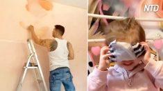 Menina não dorme no quarto e pai tem uma idéia brilhante – 3 meses depois, ela não quer sair de lá