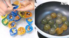 Parecem apenas saborosas gelatinas – mas para esse homem elas são uma extraordinária ferramenta na cozinha