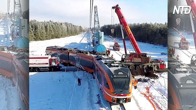 Trem descarrila após acidente brutal – mas sua volta ao trilhos é alucinante