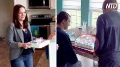 Garota faz bolo de aniversário para seu irmão e choca mãe com mensagem inesperada