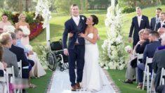 Homem paralisado se levanta e anda com sua noiva no dia do casamento